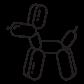 Koons dog Icon