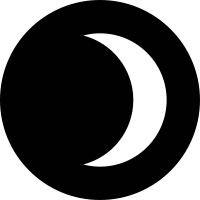Moon Waxing Crescent Icon