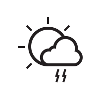 Thunderstorms Day Icon